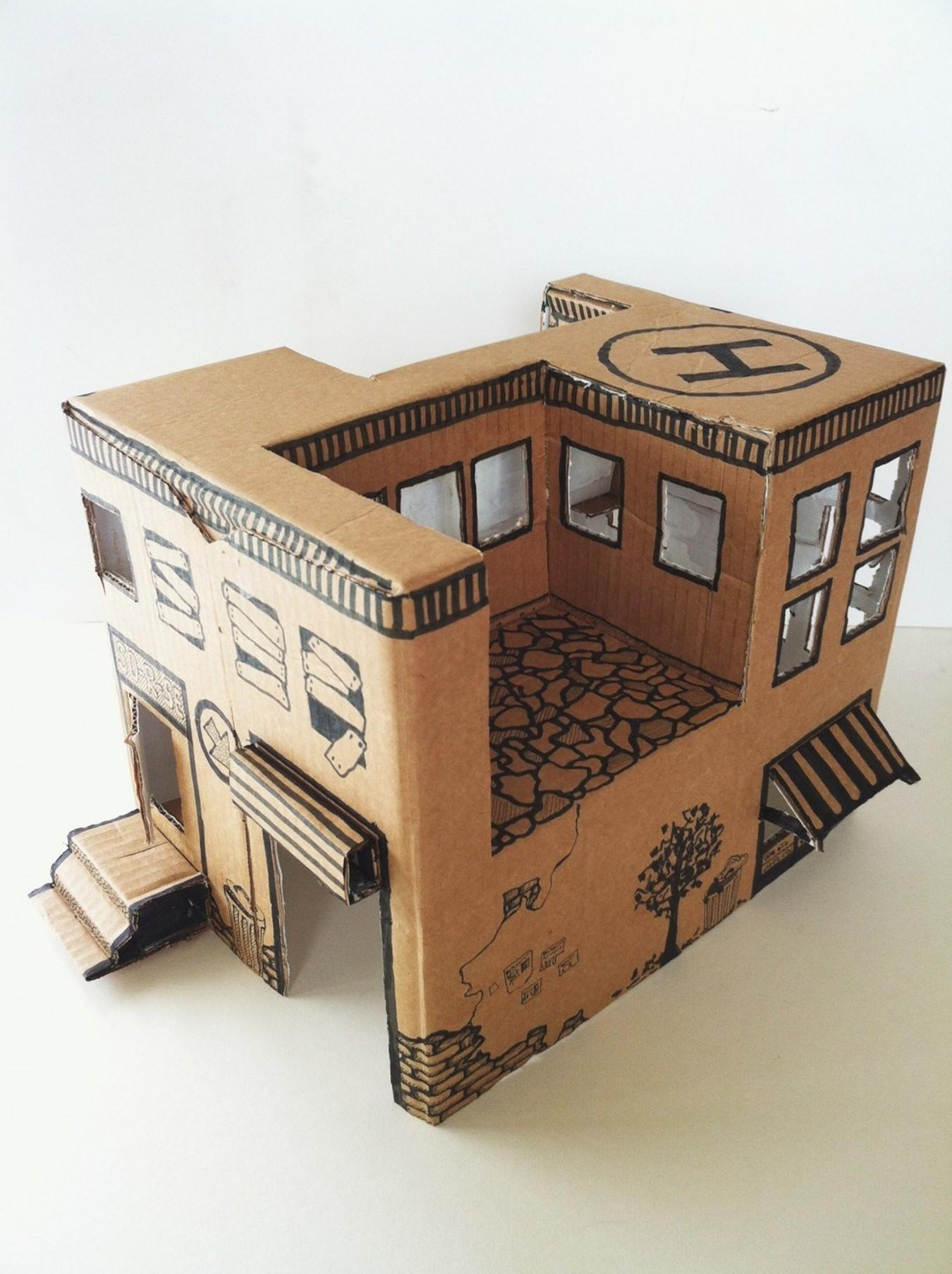 Instruction Mom Make Simple Toy House