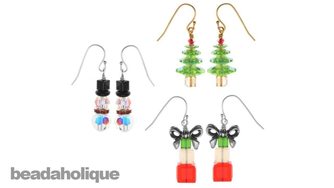 Instructions Making Crystal Christmas Earring Set