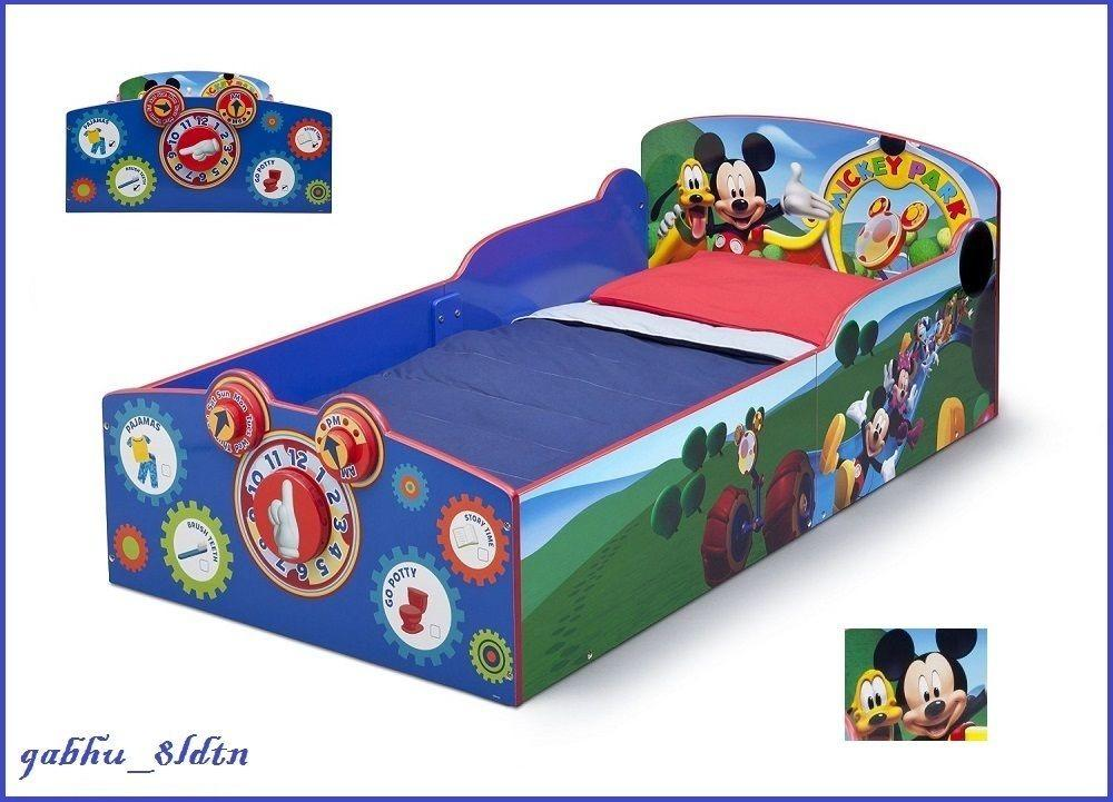 Interactive Wood Toddler Bed Mickey Mouse Kids Disney