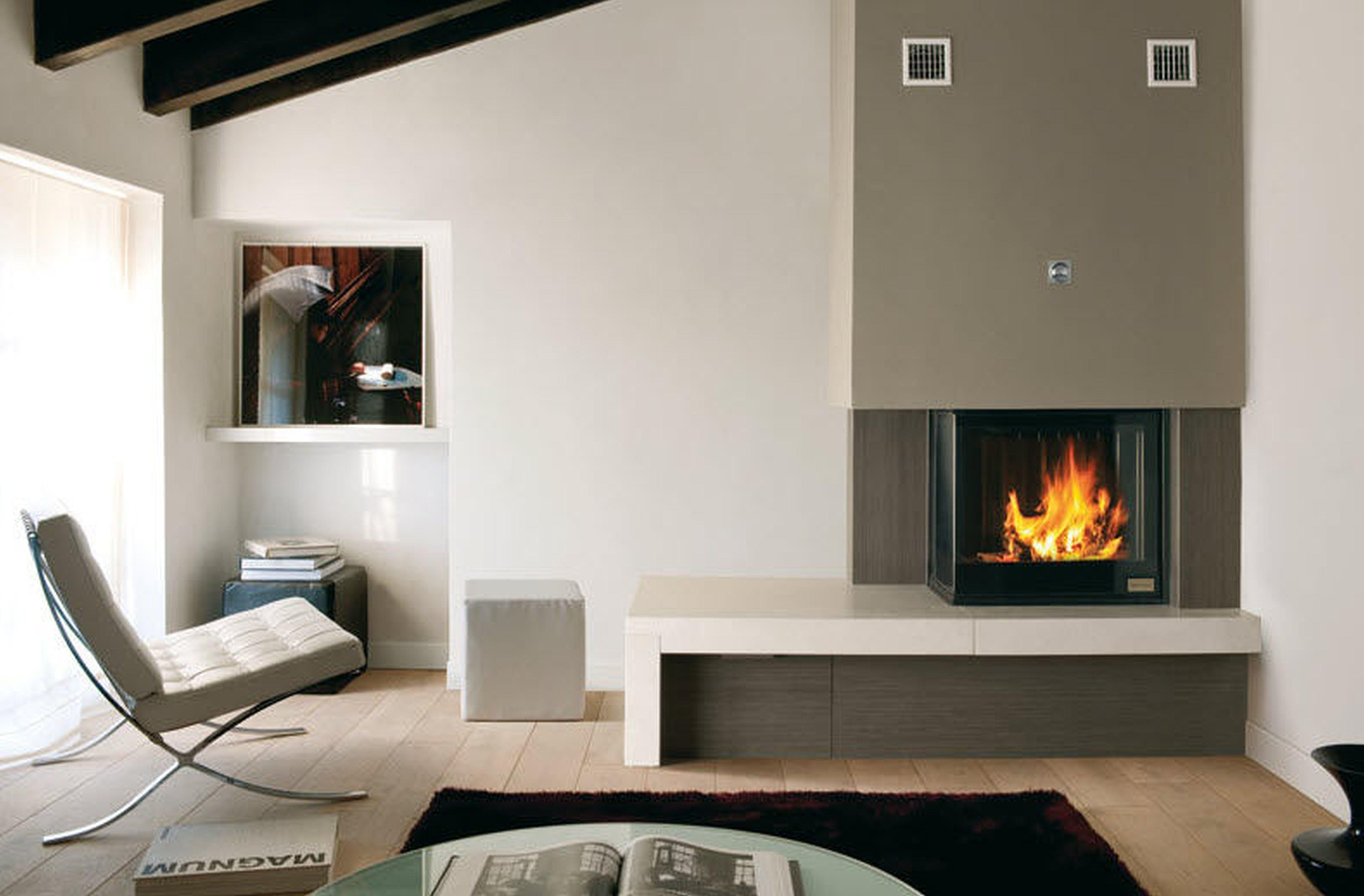 Interesting Home Interior Decoration Modern Fireplace