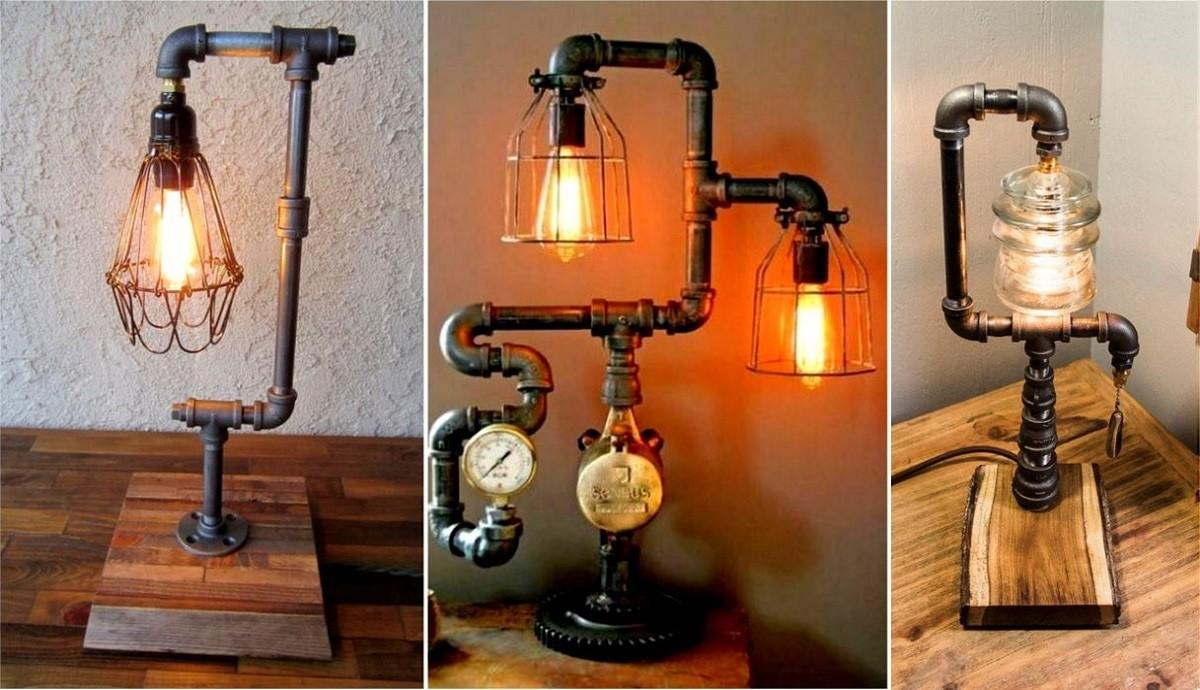 Interesting Industrial Pipe Lamp Design Ideas