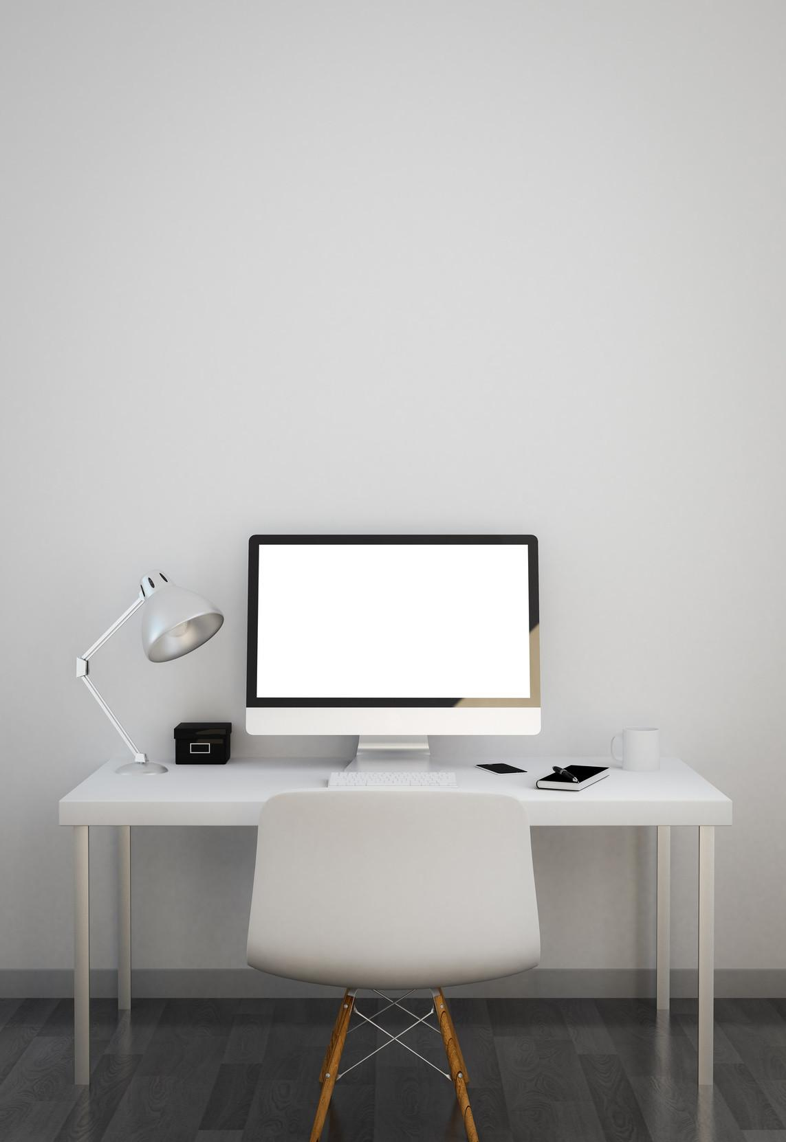 Interior Benefits Minimalist Design White Desk