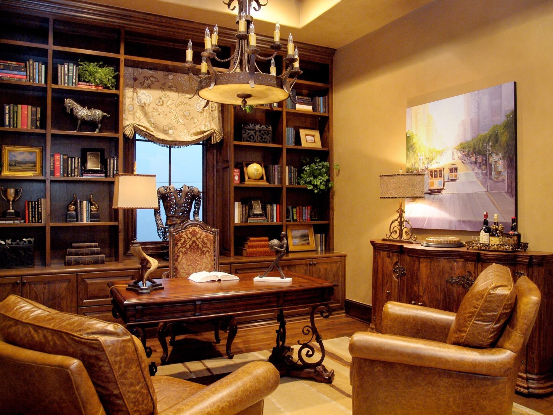 Interior Classic Home Library Small Design