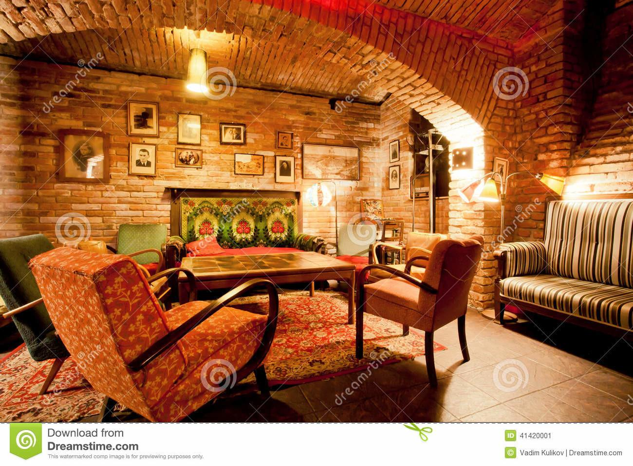 Interior Cozy Cafe Style Old Apartment