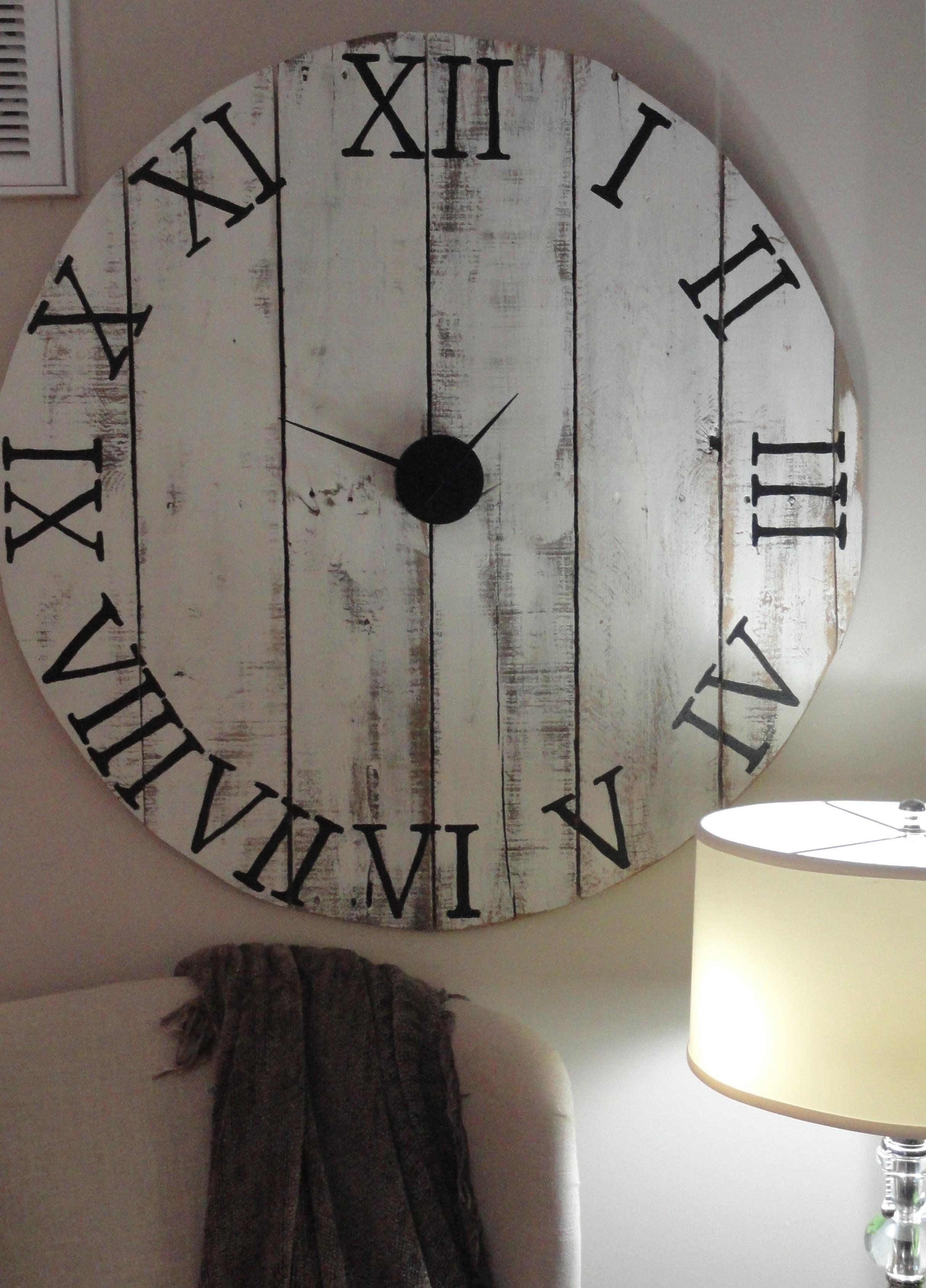 Interior Decoration Diy Rustic Pallet Wall Clock