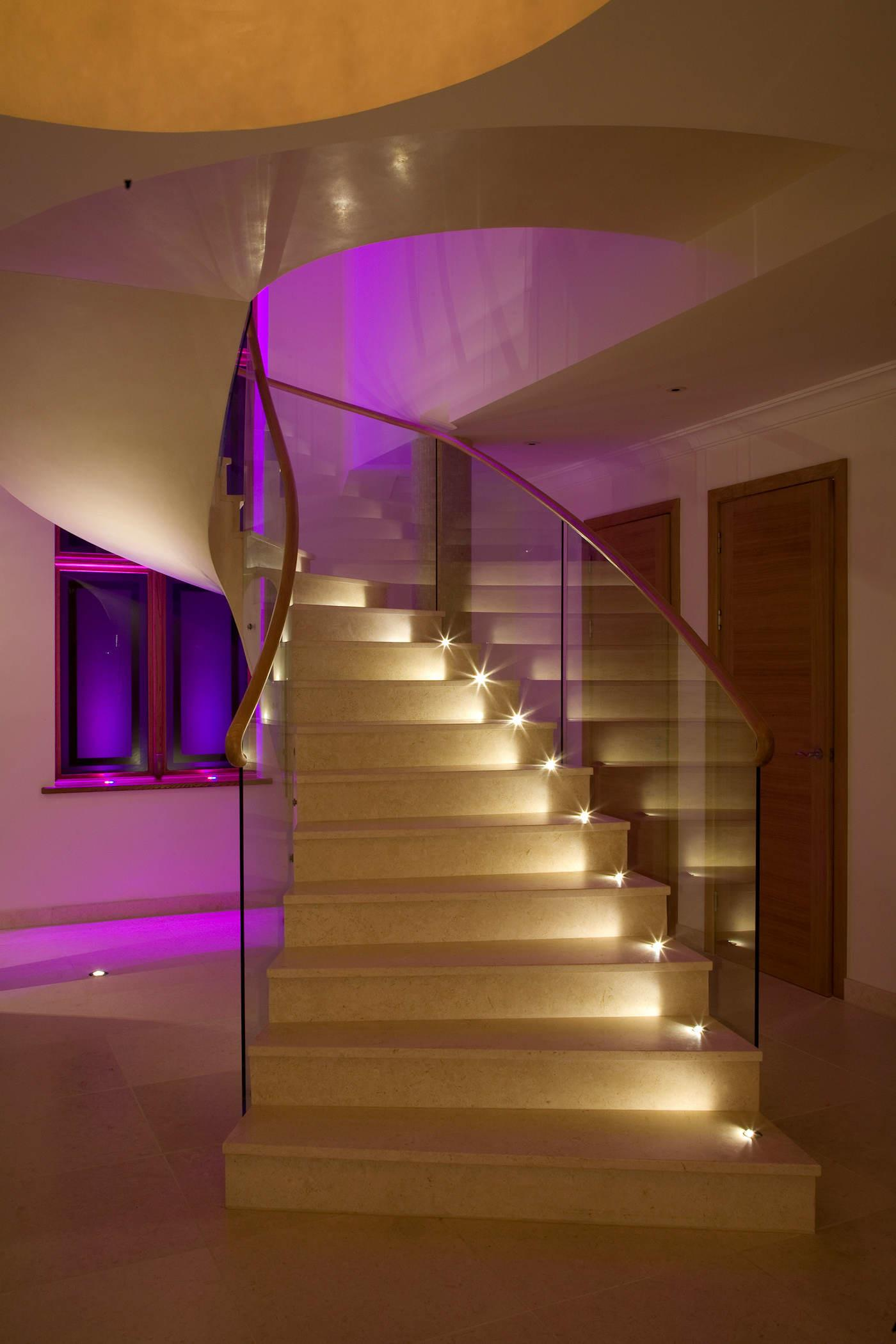 Interior Decorations Best Modern Lighting Staircase