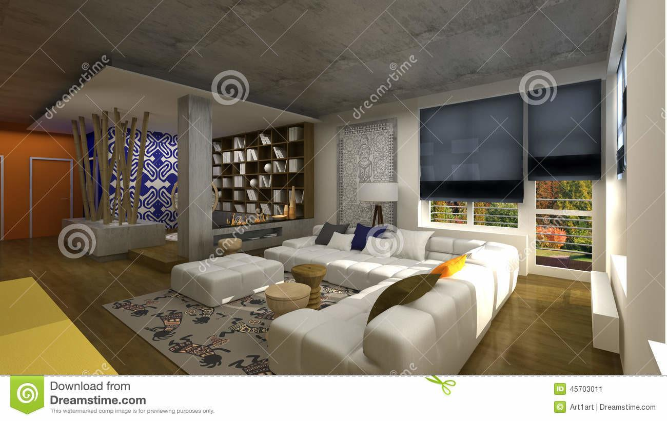 Interior Design African Style Stock Illustration