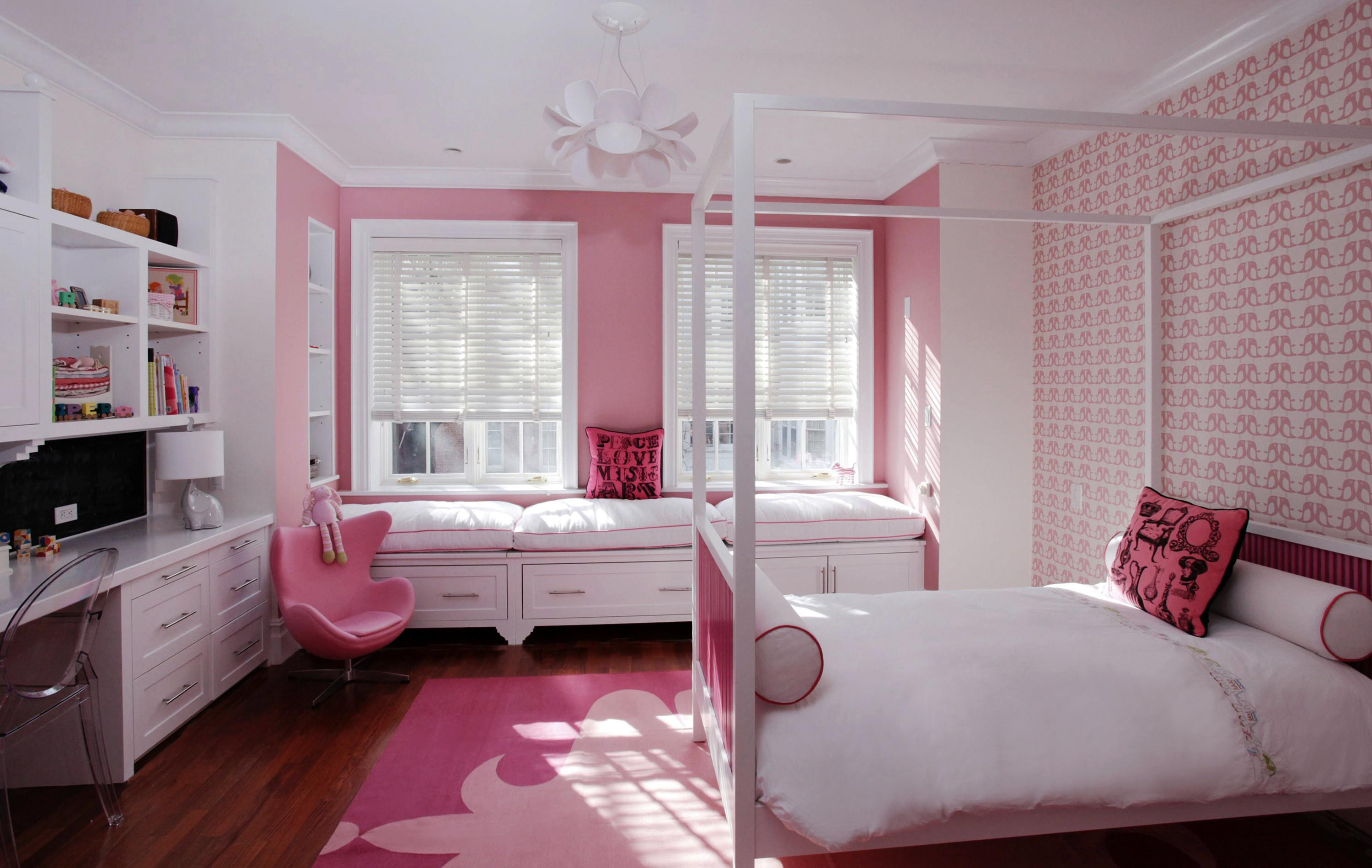 Interior Design Bedroom Teenage Girls Pink Type