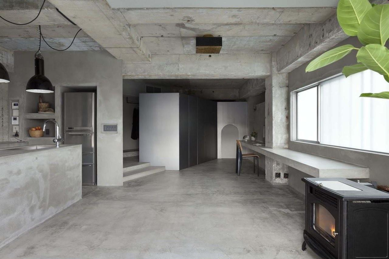 Interior Design Concrete Apartment