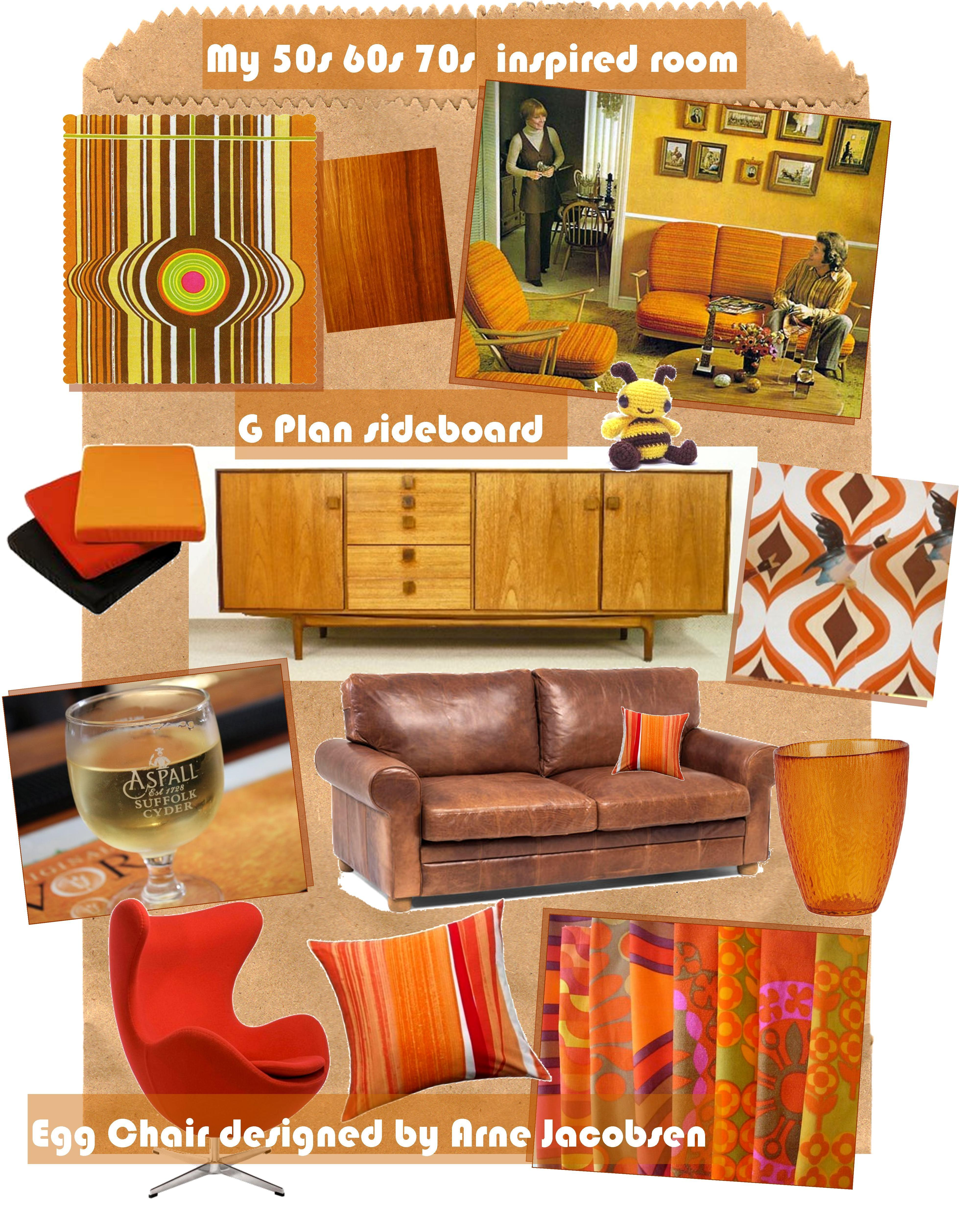 Interior Design Inspirations Retro Living Room