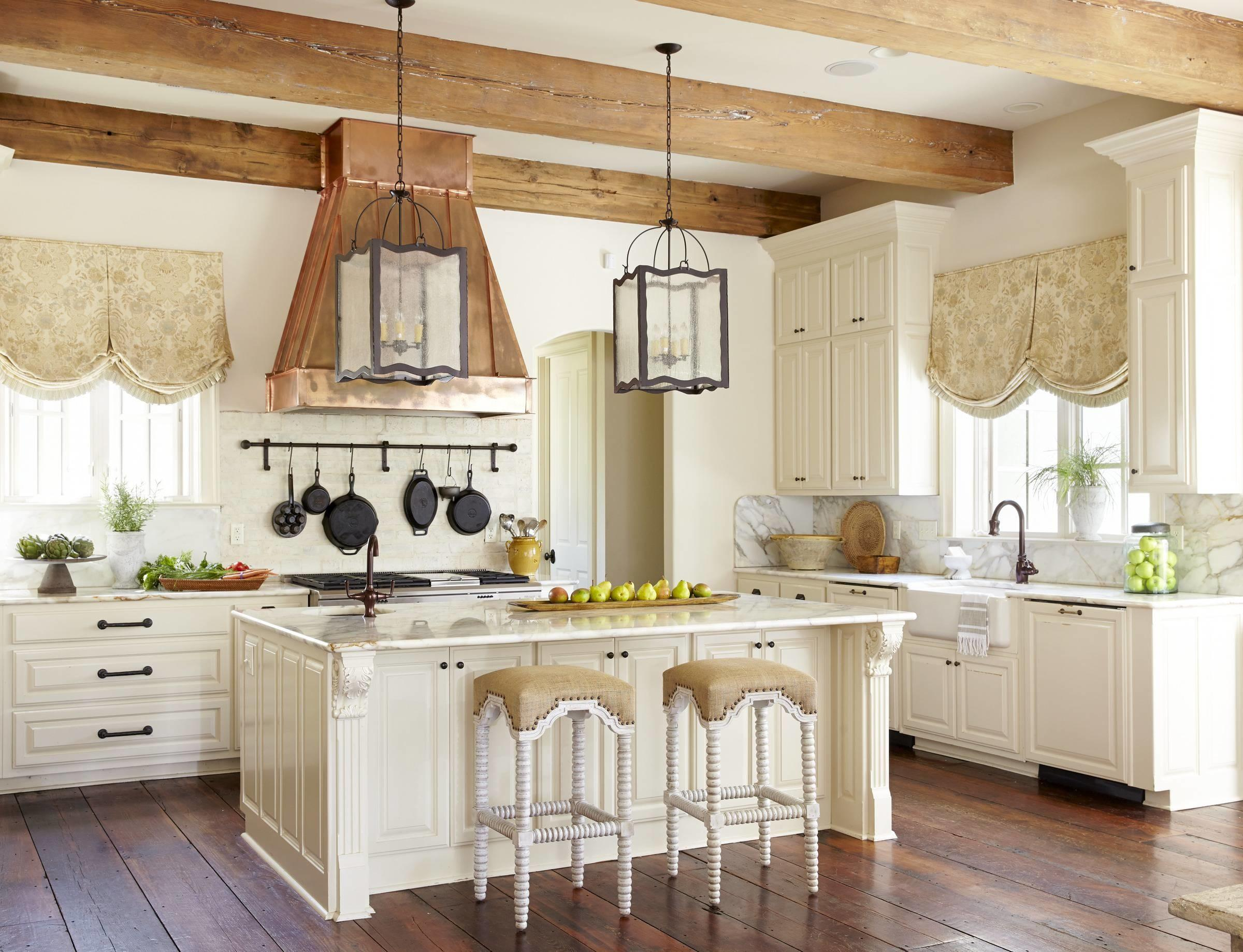 Interior Design Kitchen Island French Country Style