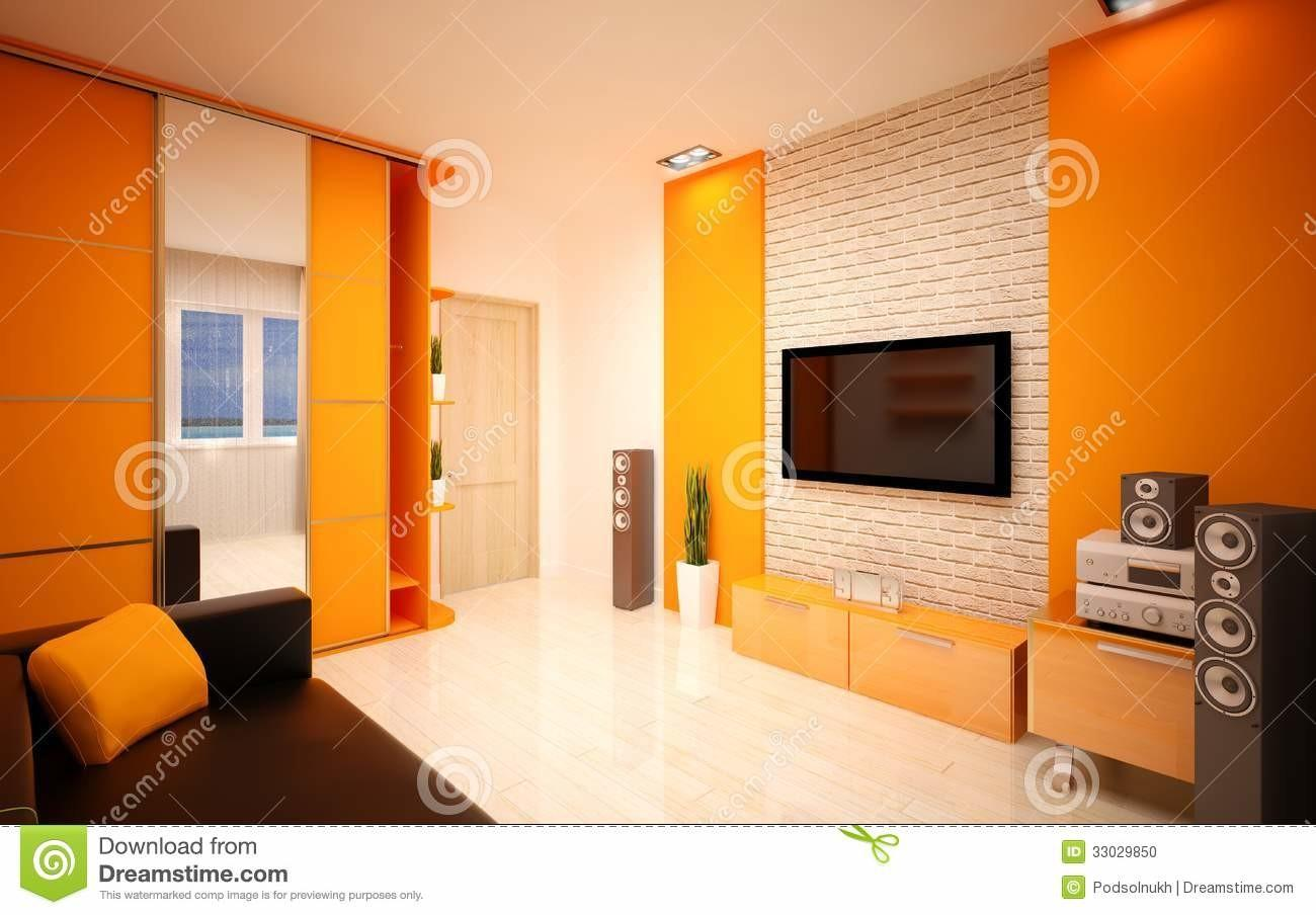 Interior Design Modern Living Room Stock