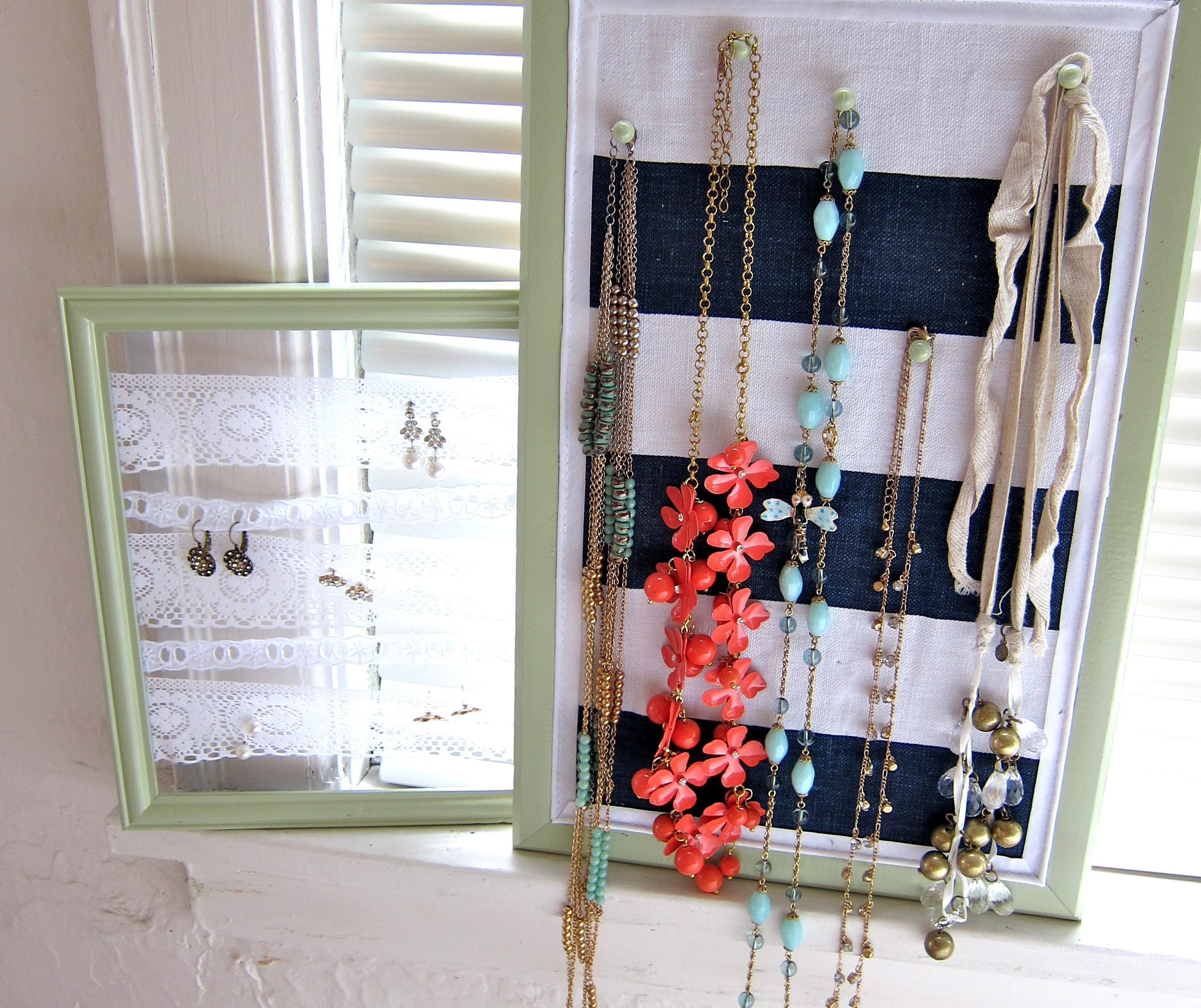 Interior Diy Necklace Earring Holder Comes Confident