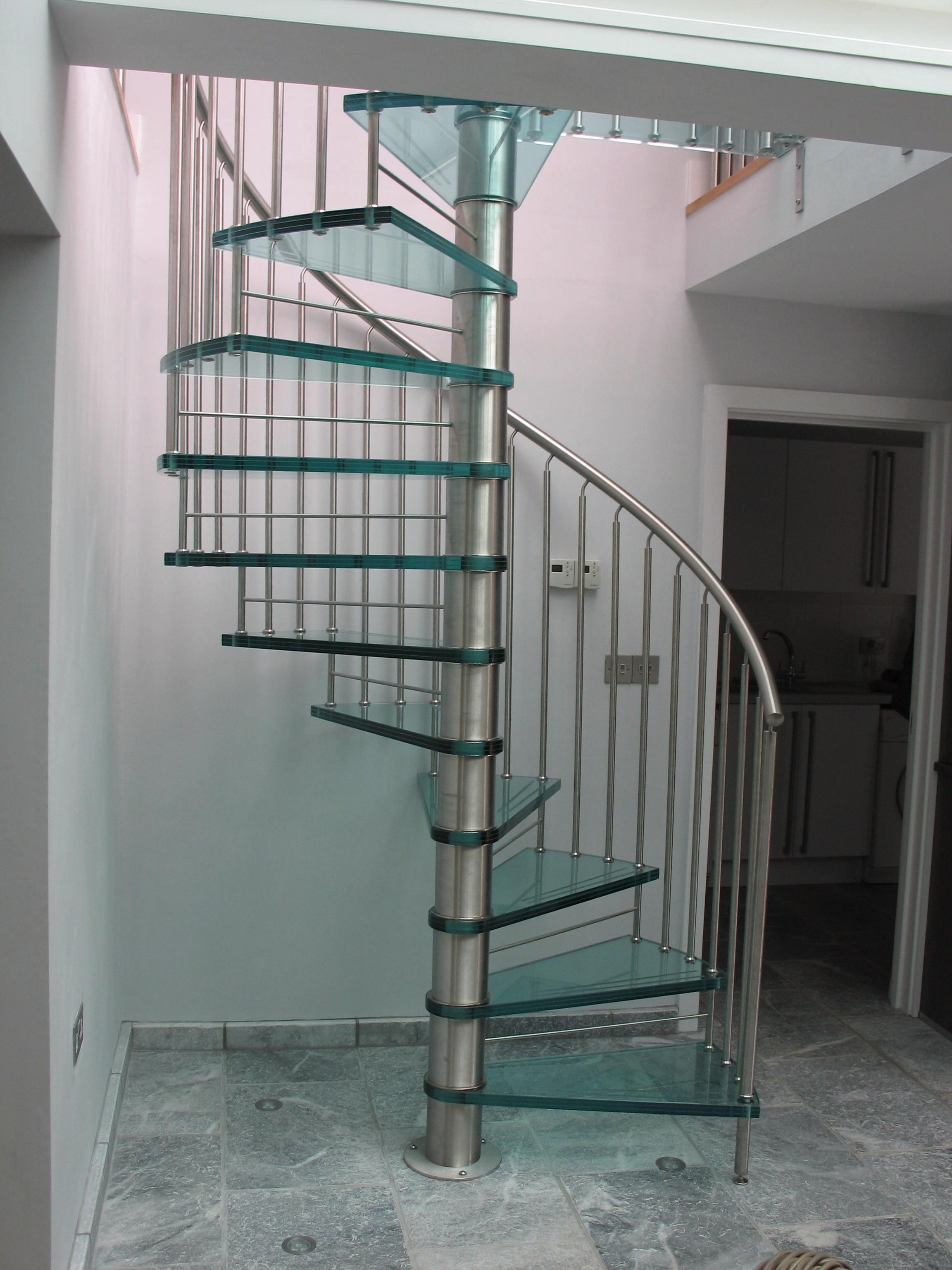 Interior Elegant Glass Stair Railing Home Design