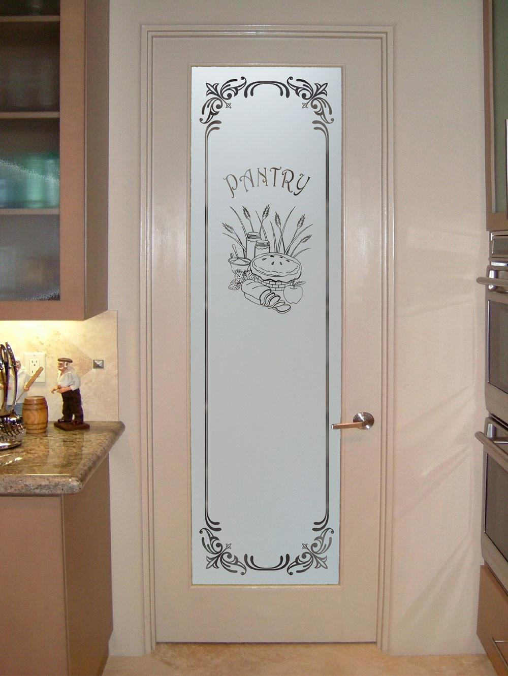 Interior Frosted Glass Doors Pantry Door