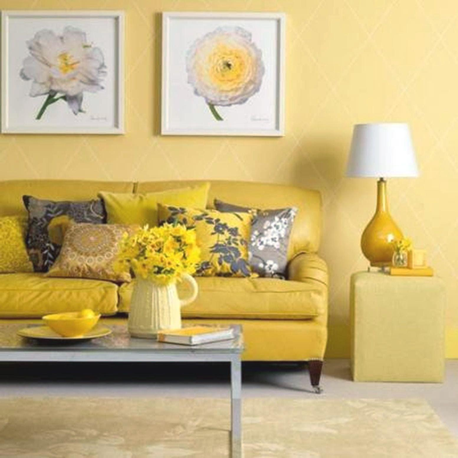 Interior Home Element Light Yellow Living Room