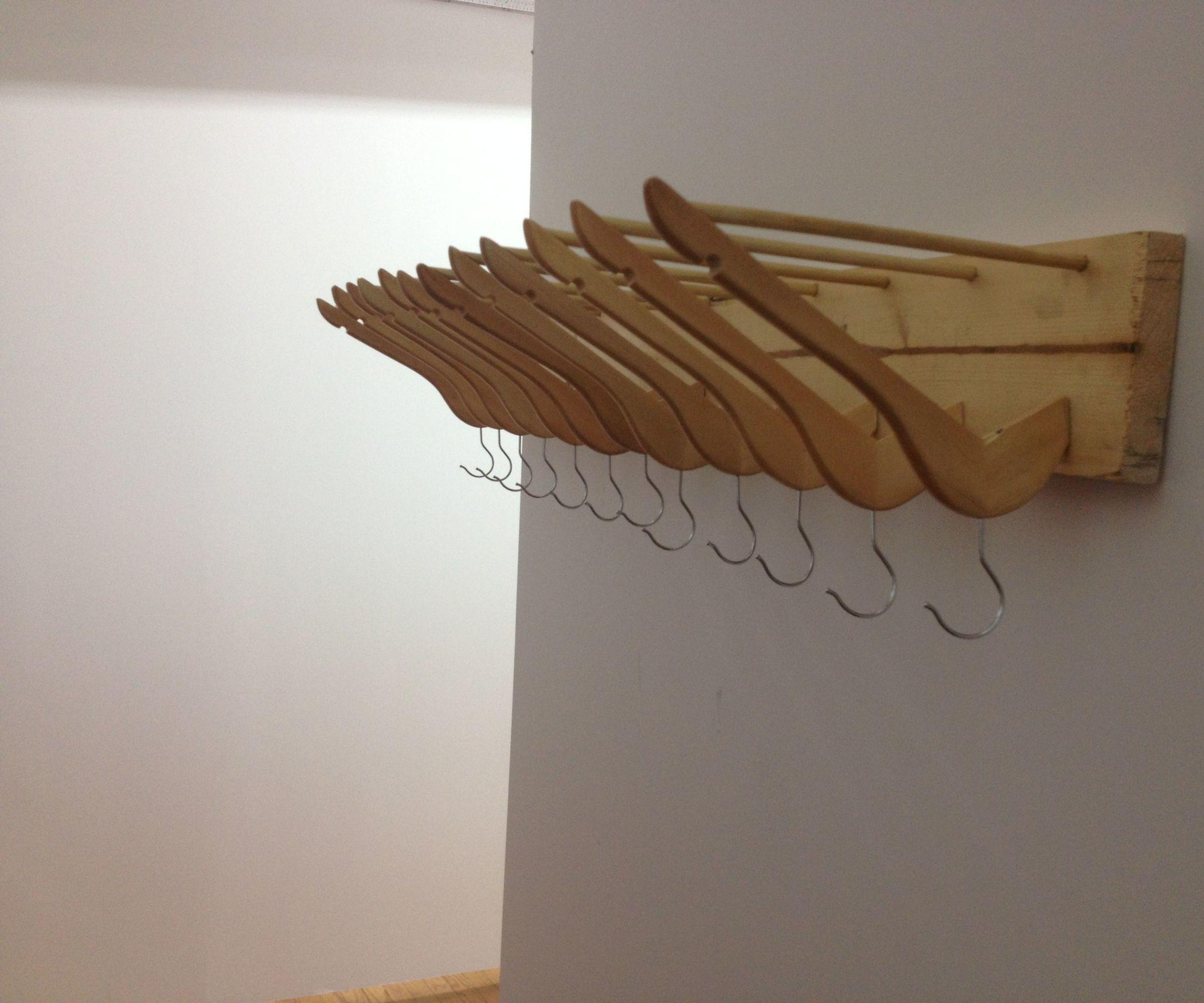 Interior Saving Money Diy Coat Hanger Rack