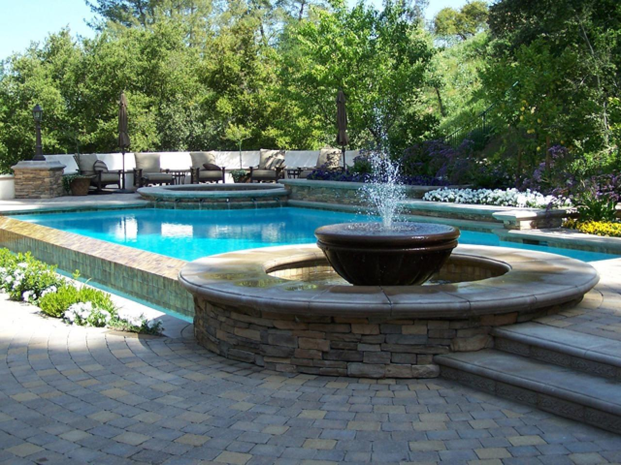 Interior Swimming Pool Water Features Ideas Modern
