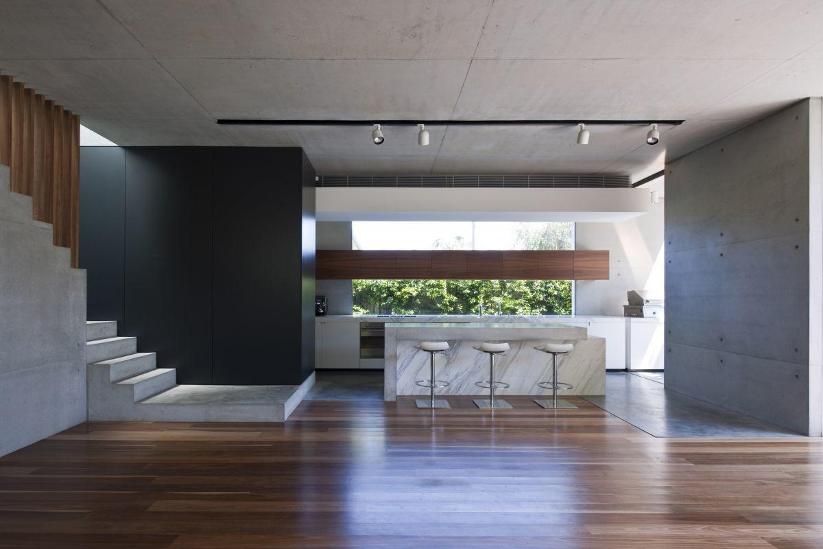 Interior Two Level Minimalist Modern Home Design White