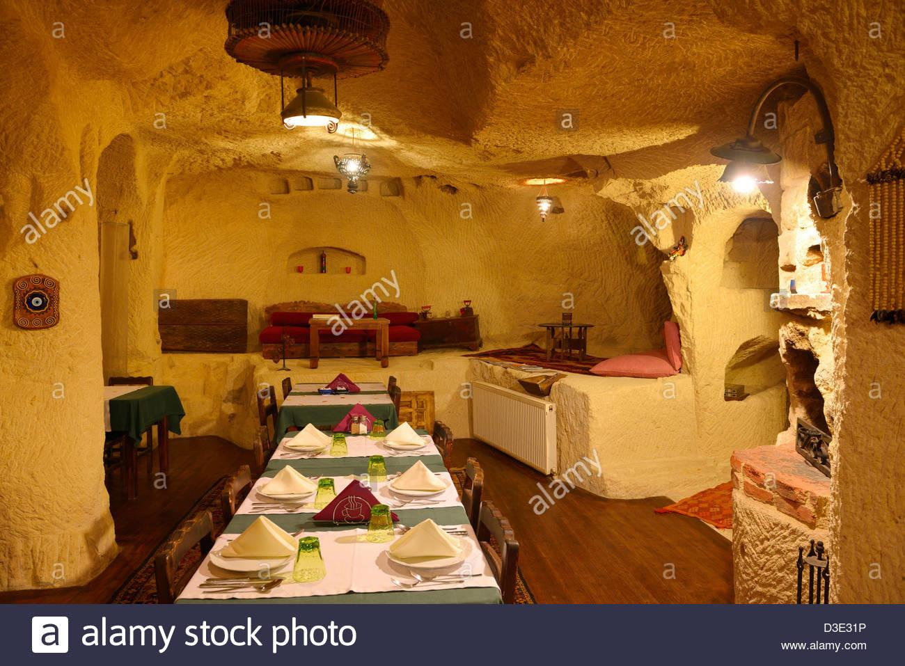 Interior Urgup Evi Rock House Cave Hotel Dining Room