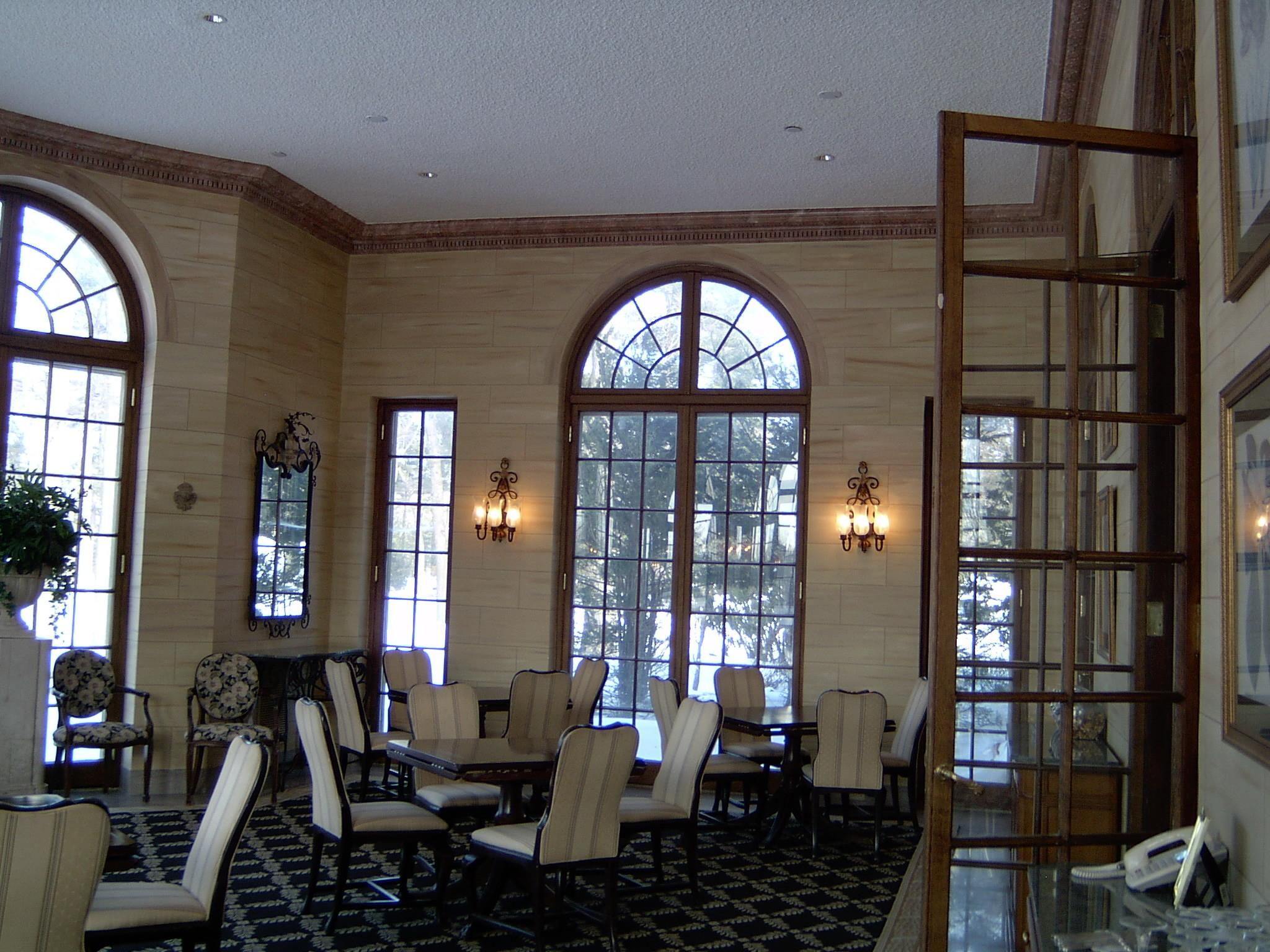 Interior Walls Faux Concrete Muttontown Country Club All