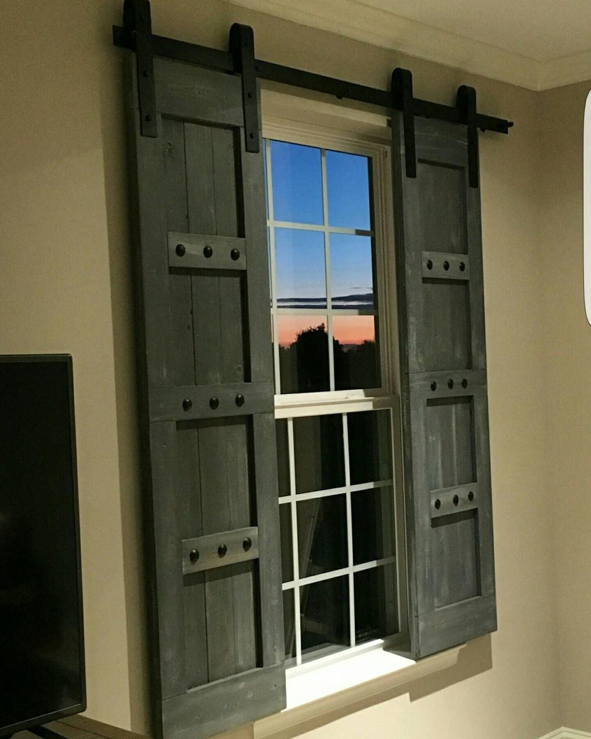 Interior Window Barn Shutters Sliding