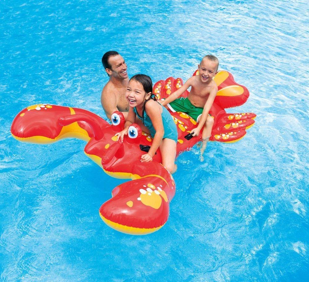 Intex Inflatable Float Ride Lobster Swimming Pool Toy