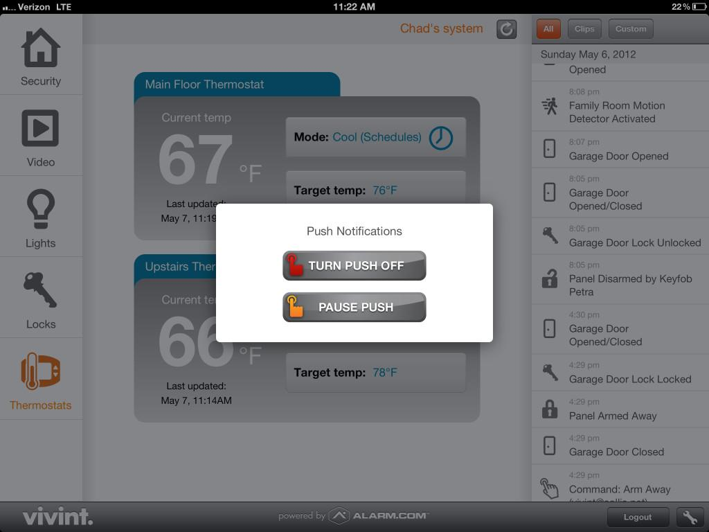 Introducing New Vivint Home Automation Ipad App Your