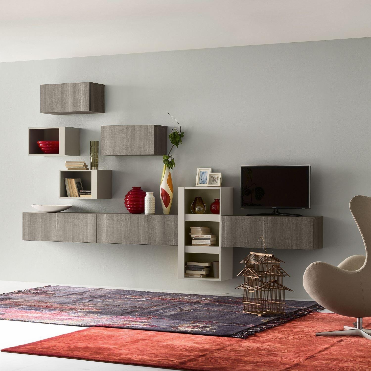 Inviting Modular Wall Unit Design Inspiration Exposing