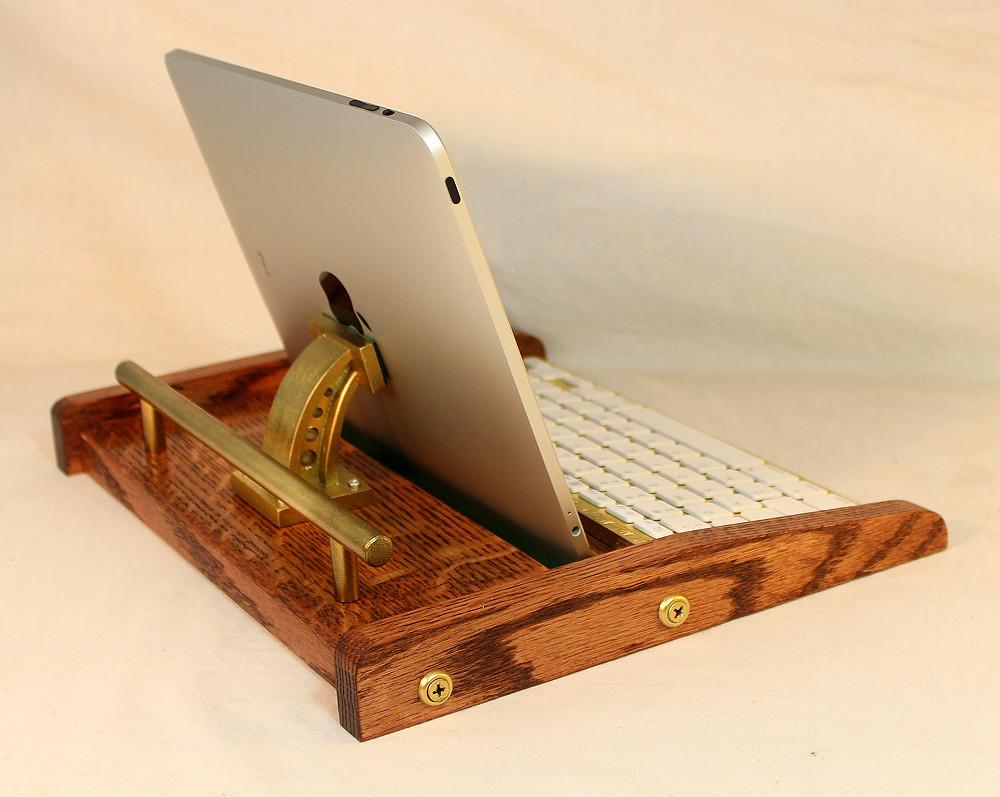 Ipad Workstation Keyboard Tablet Dock Steampunk