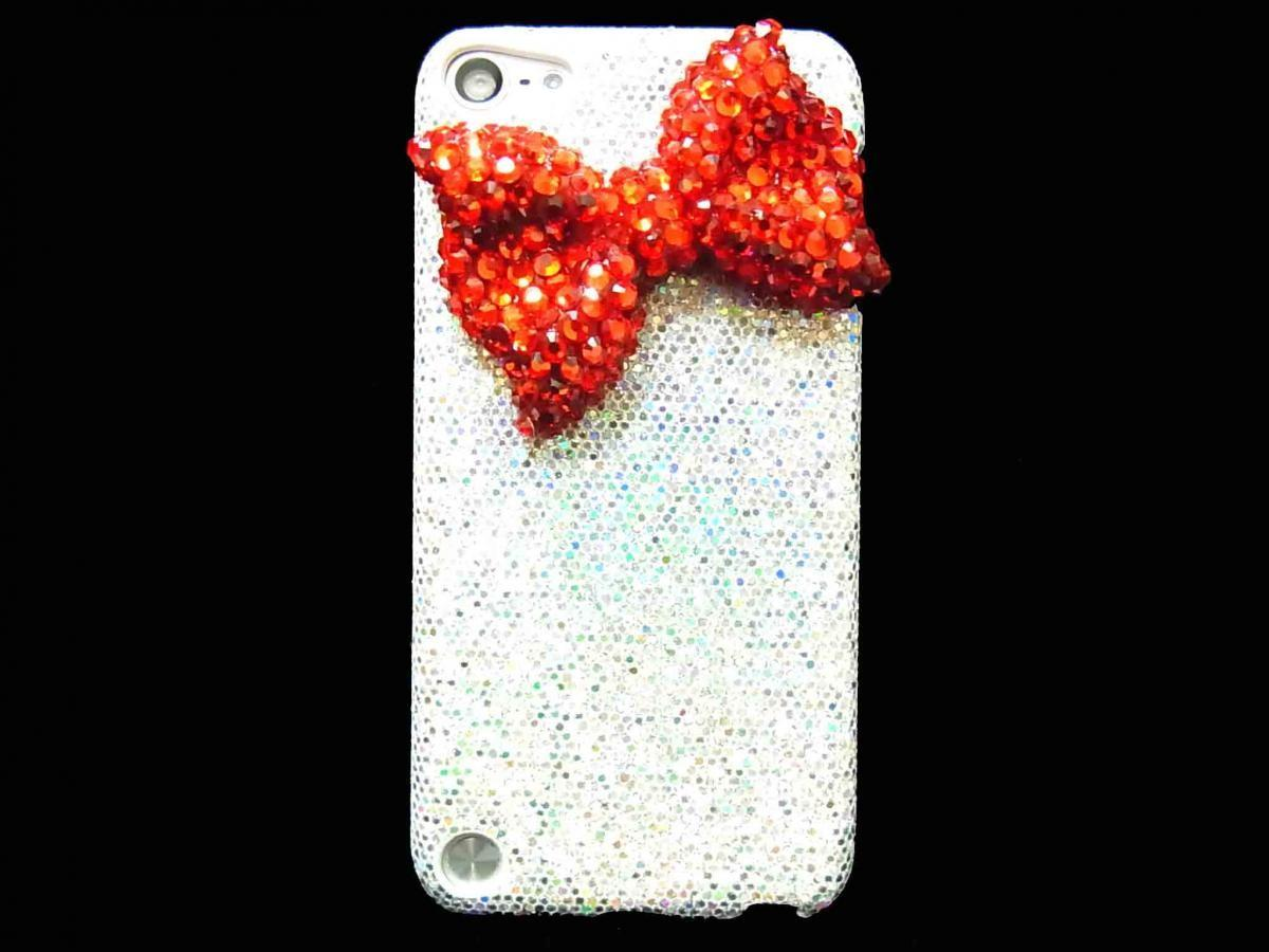 Ipod Touch Case Bling Red Bow