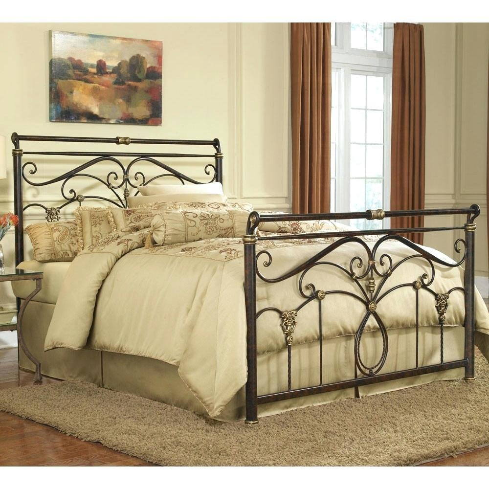 Iron Headboard Queen Storage