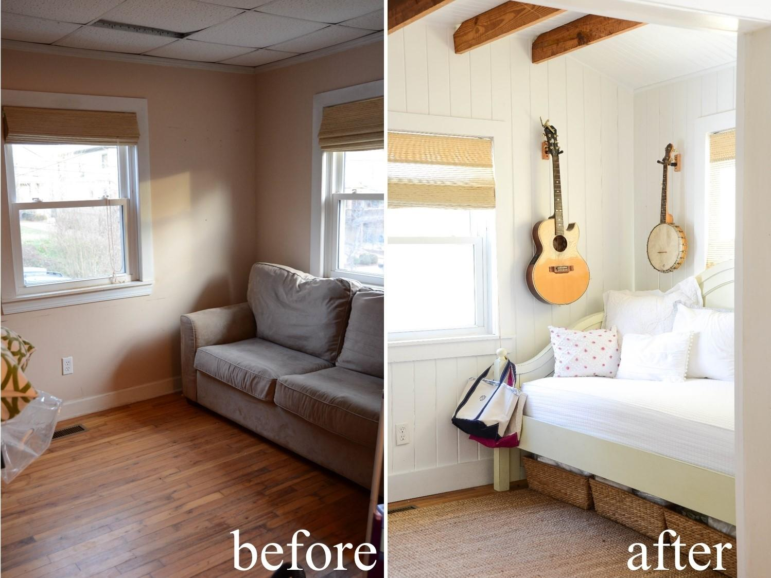 Iron Twine Before After Small Living Space