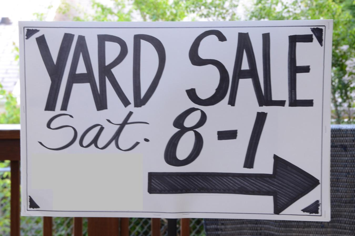 Iron Twine Yard Sale Ideas Tips