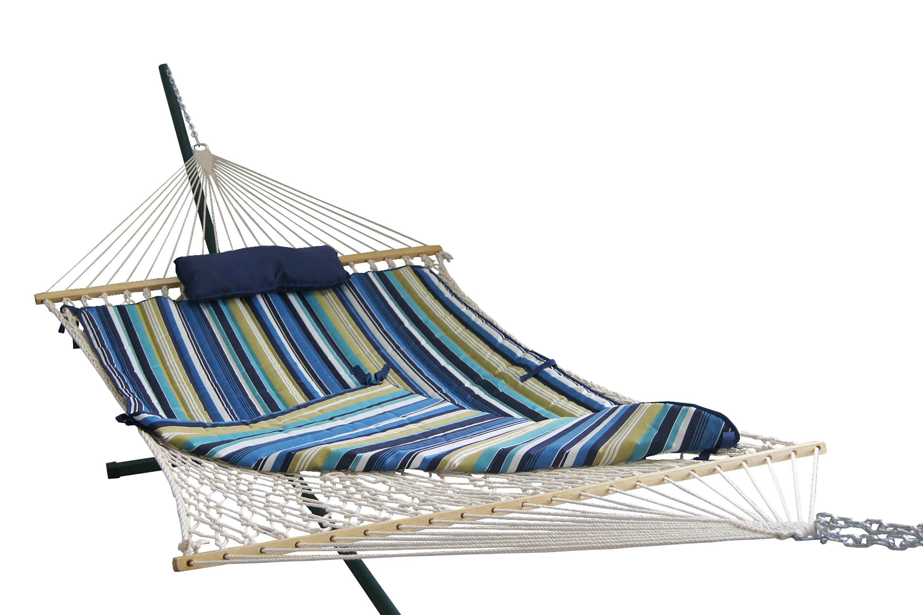 Island Umbrella Retreat Hammock Set Blue Cover
