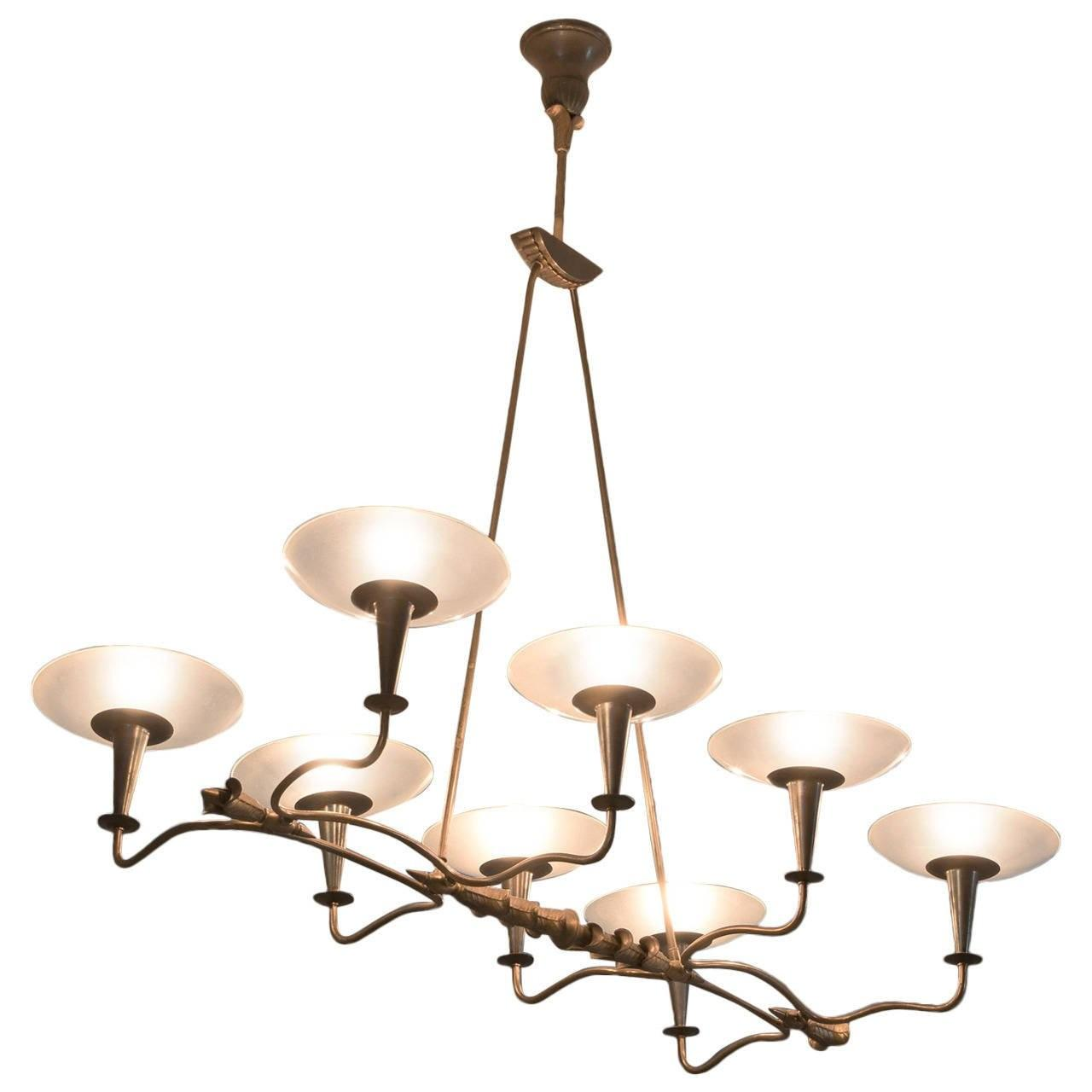 Italian Chandelier Solid Brass Sale 1stdibs