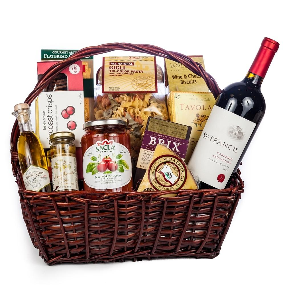Italian Evening Gift Basket Wine Champagne Gifts