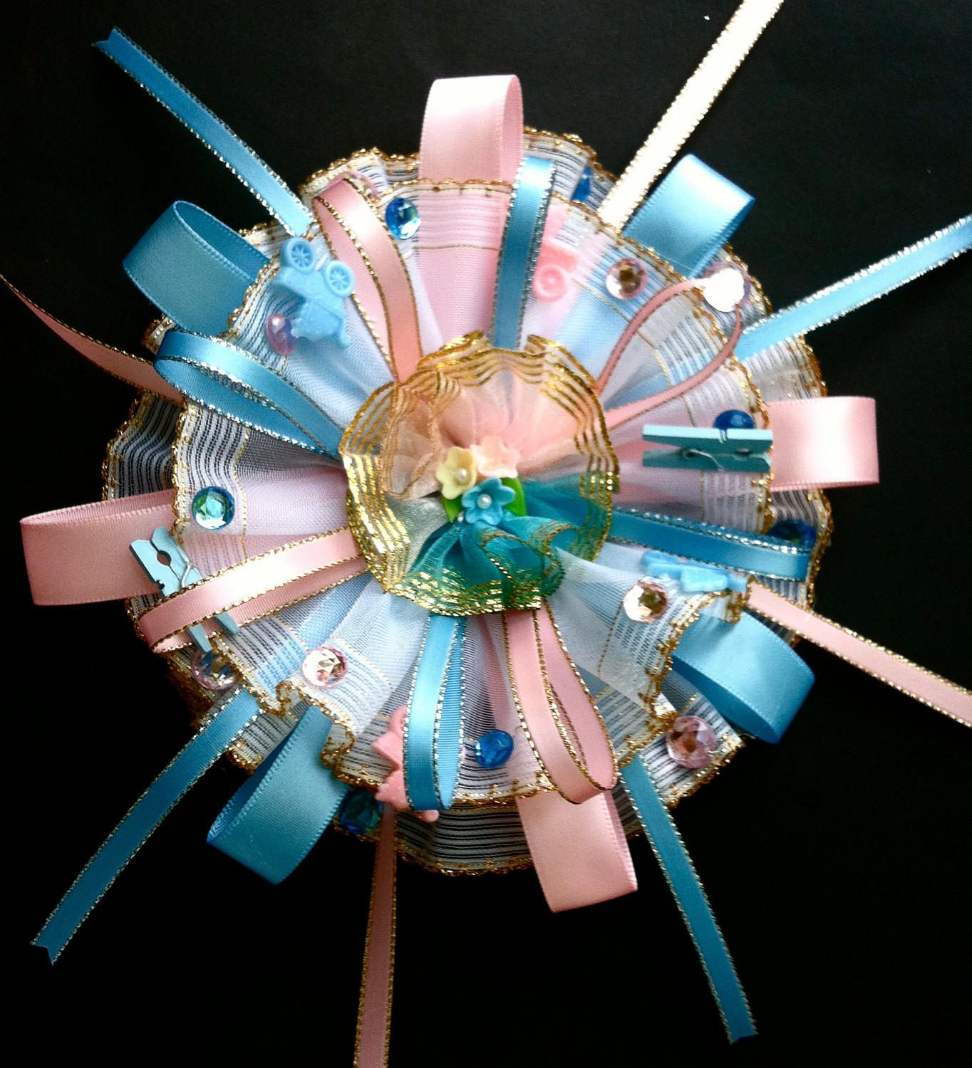 Items Similar Baby Shower Corsage Pink Blue Mom