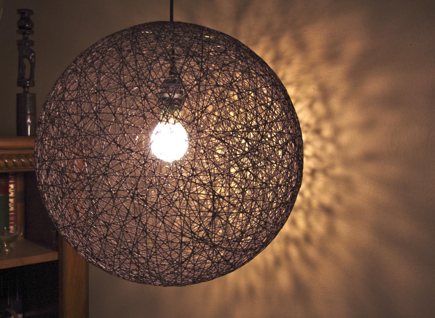 Items Similar Hanging Sphere String Light Hemp