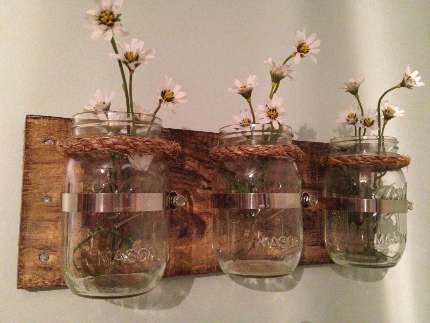 Items Similar Mason Jar Planters Etsy