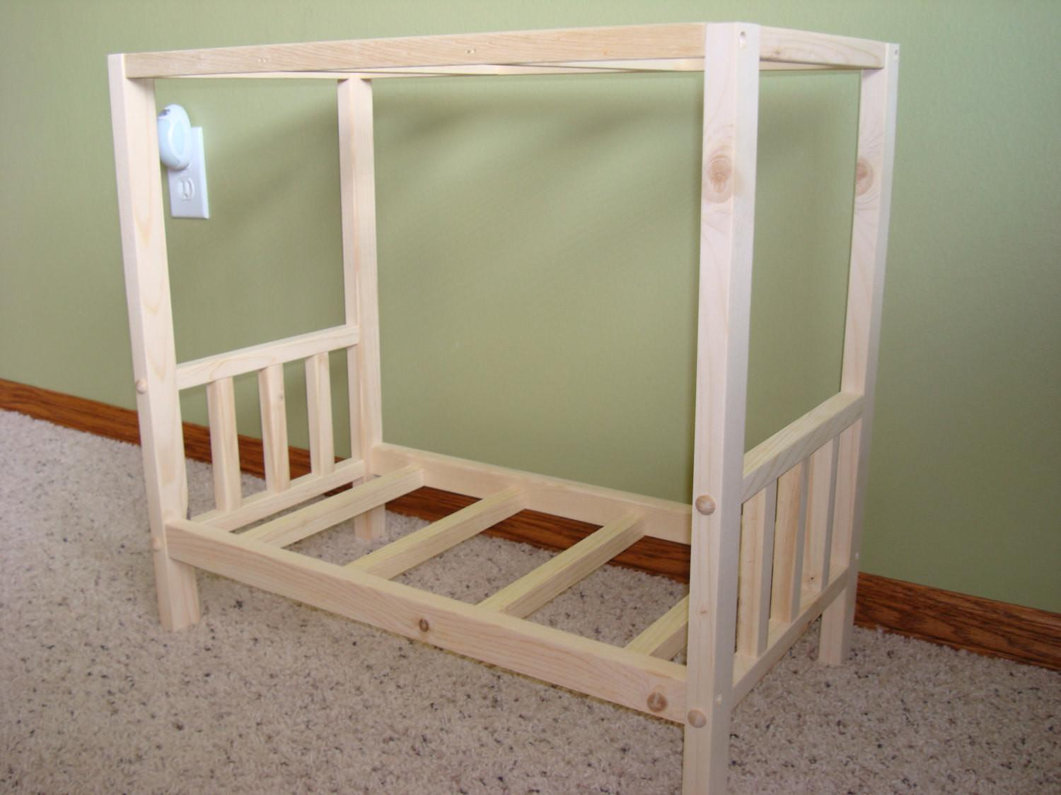 Items Similar Solid Wood Canopy Bed Fits American Girl
