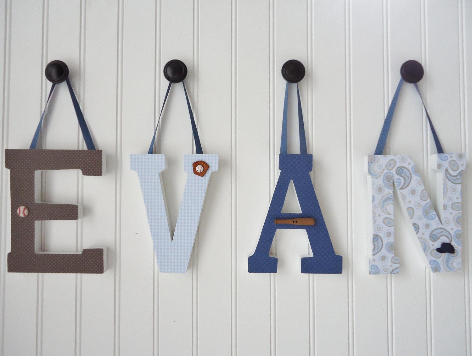 Items Similar Wall Letters Nursery Decor Wooden