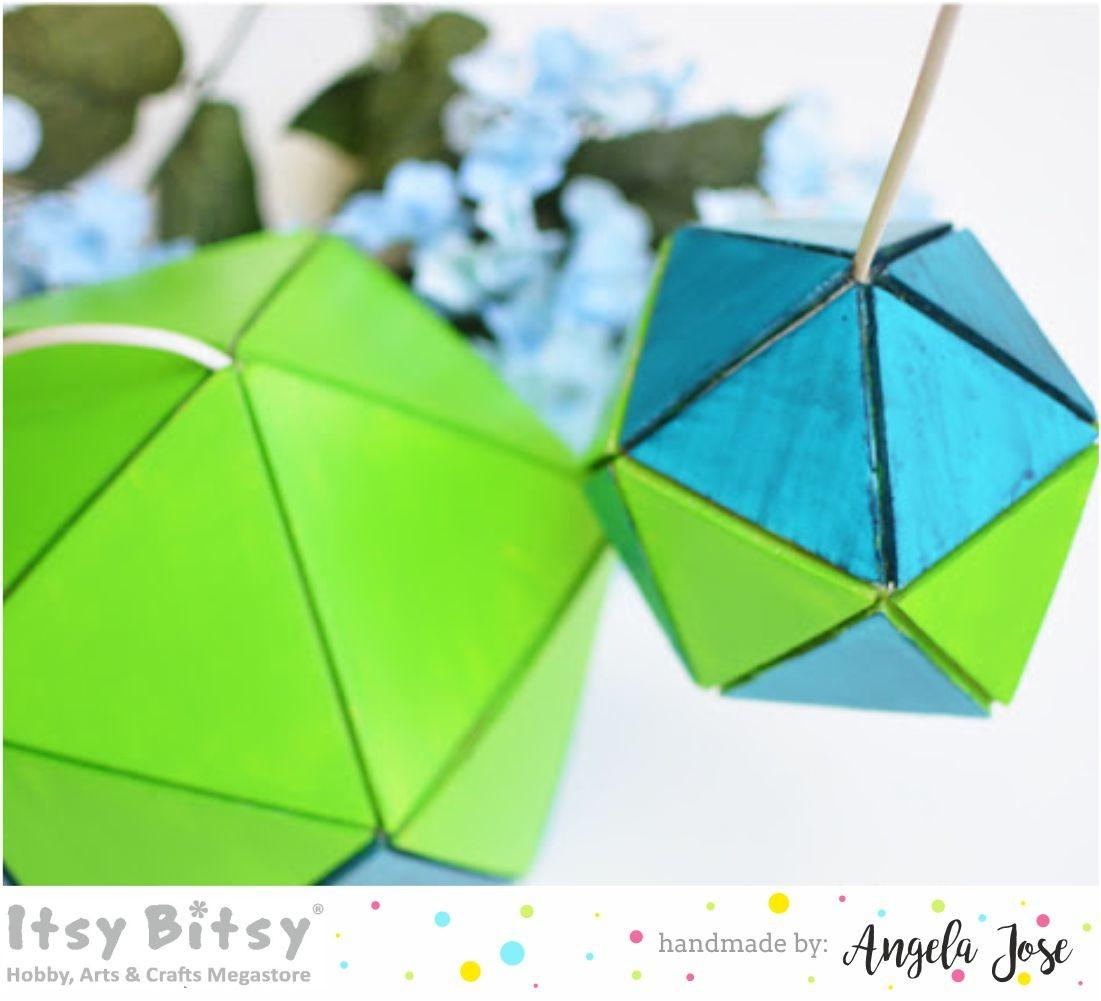 Itsy Bitsy Blog Place Diy Geometric Lampshade