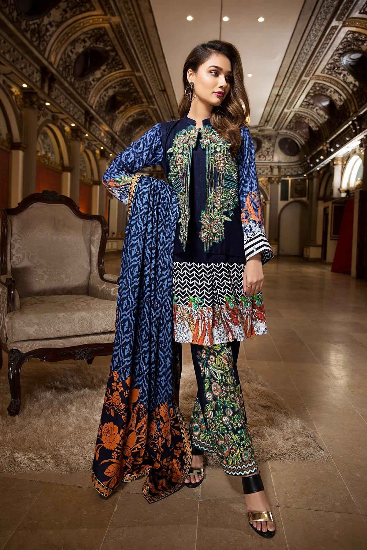 Ittehad Embroidered Winter Collection 2018 Vogue
