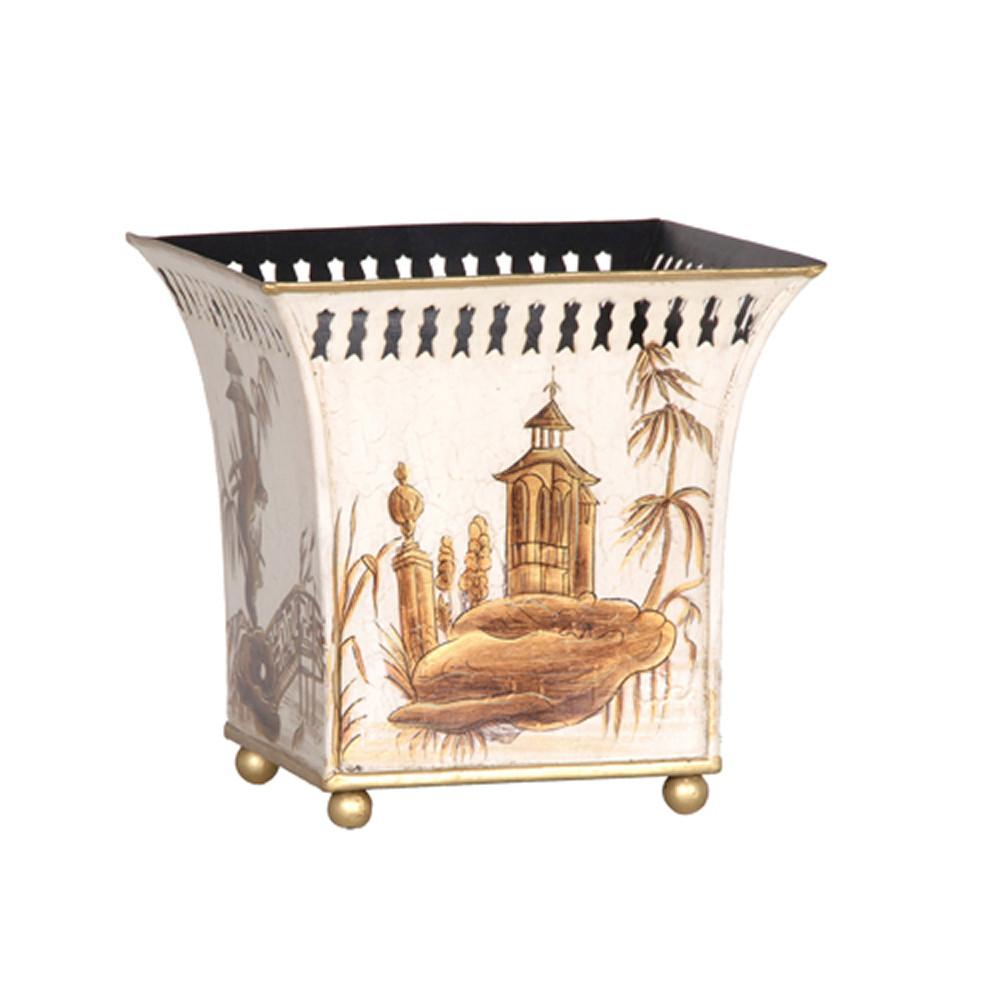 Ivory Chinoiserie Square Planter Cowshed Interiors