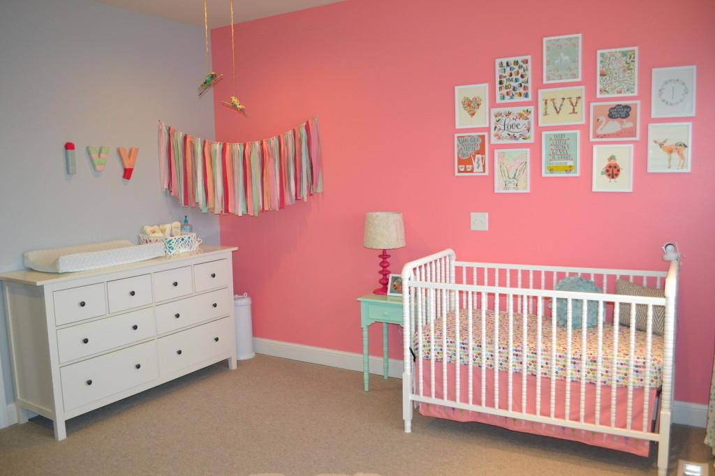 Ivy Pink Mint Hip Cheery Nursery Project