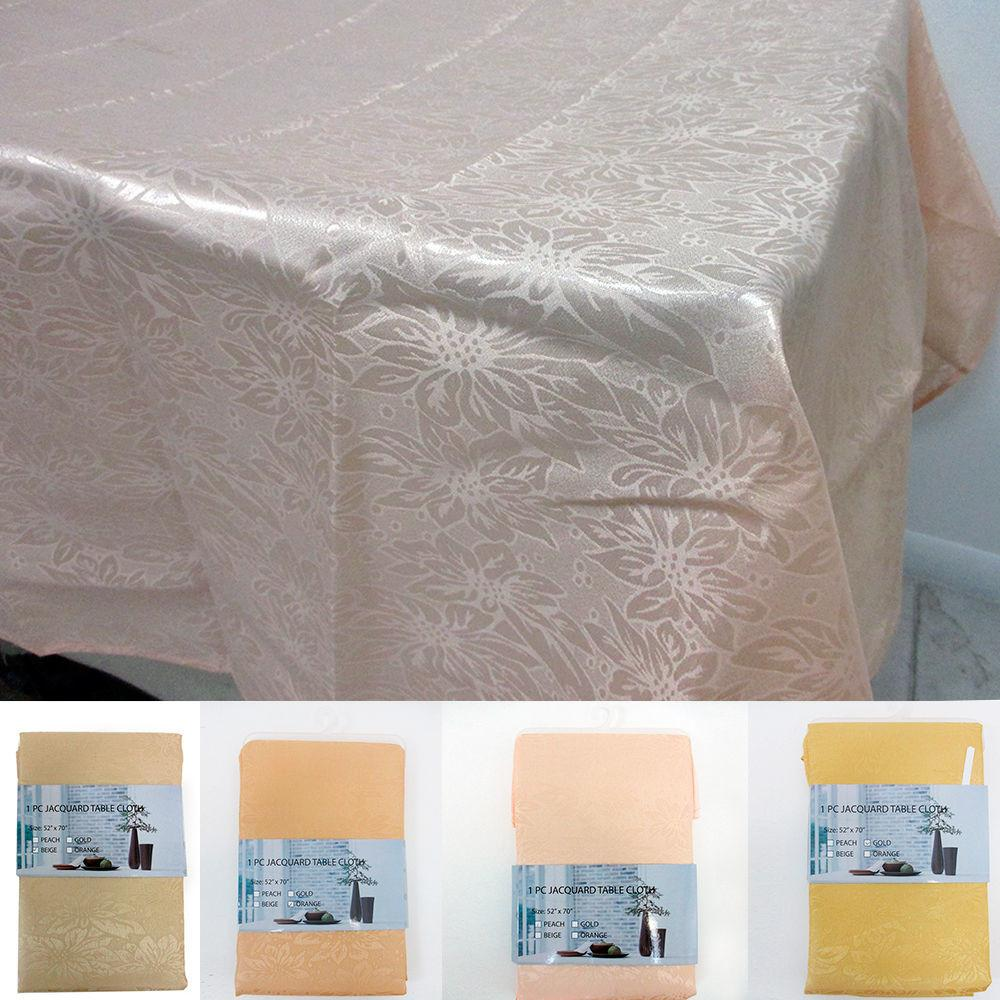 Jacquard Floral Table Cloth Linen Rectangle Cover