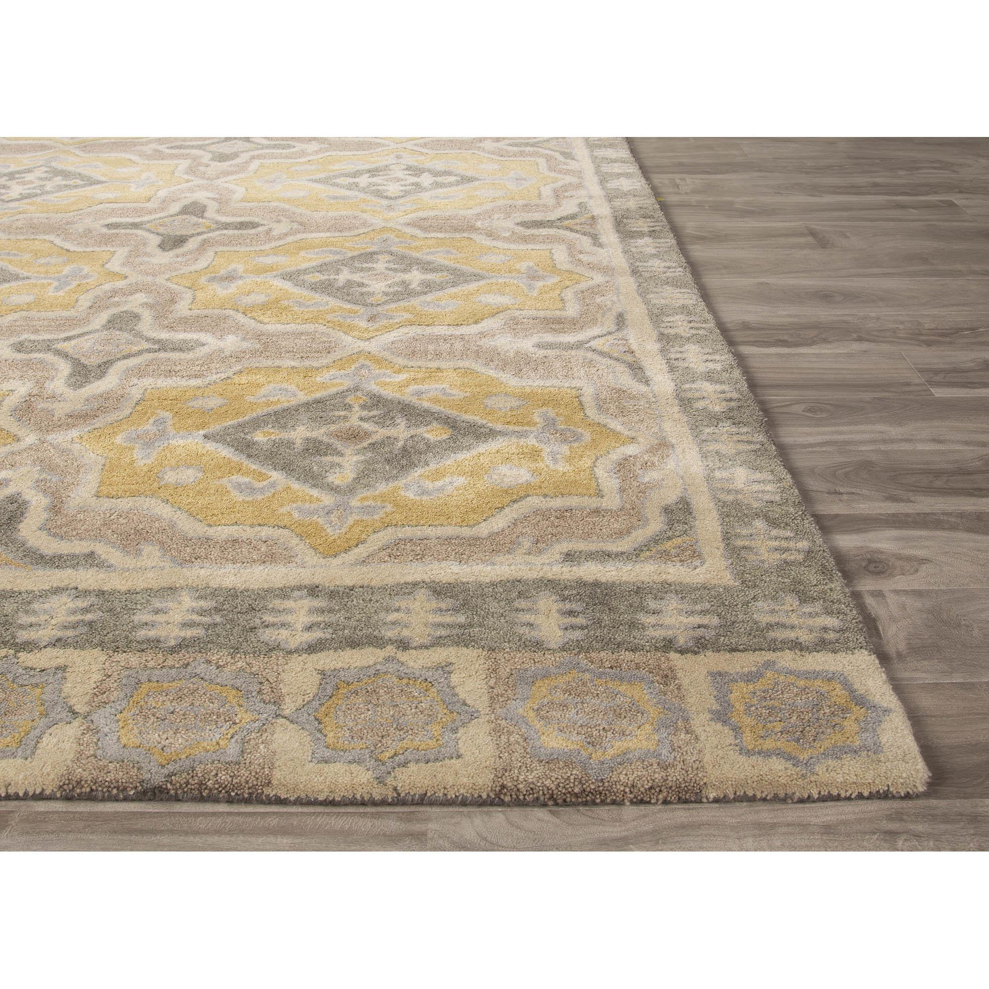Jaipurliving Pendant Hand Tufted Gray Yellow Area Rug