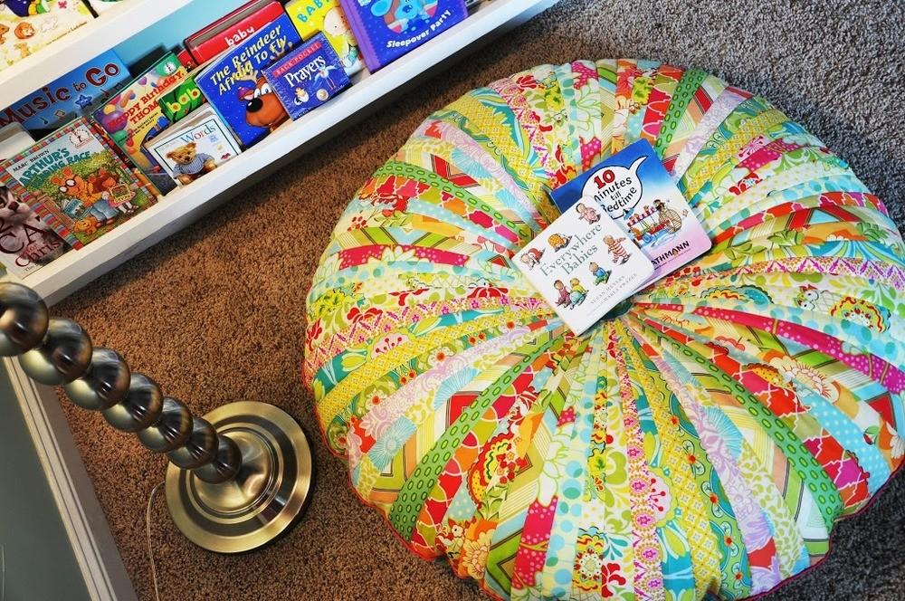 Jammin Jelly Roll Quilt Floor Cushion Favequilts