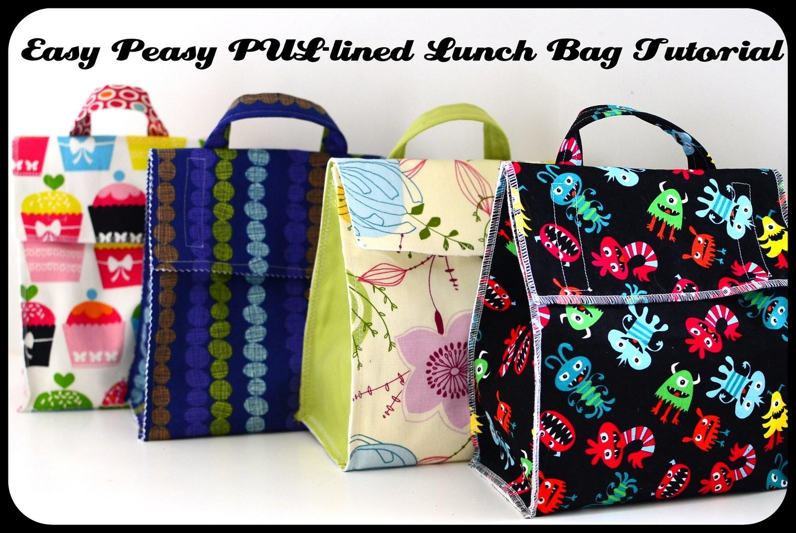 Jane All Trades Easy Peasy Pul Lined Lunch Bag